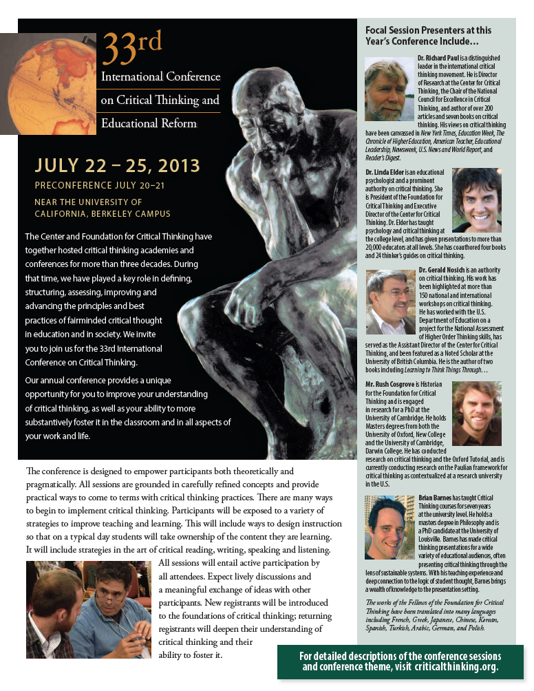 33rd annual conference flyer