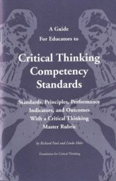 critical thinking competency examination