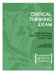 International Critical Thinking Essay Test
