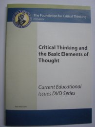 Elements and Standards Learning Tool - The Critical Thinking